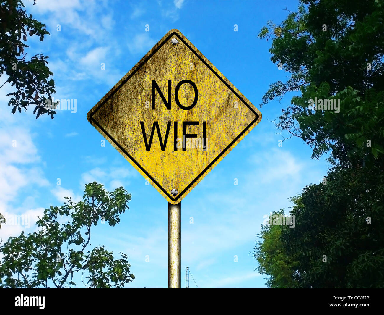 Pas de Wifi Road Sign Photo Stock