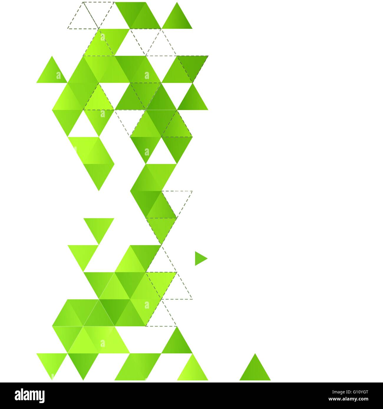 Abstract Vector Background Template Avec Triangle Vert Pour