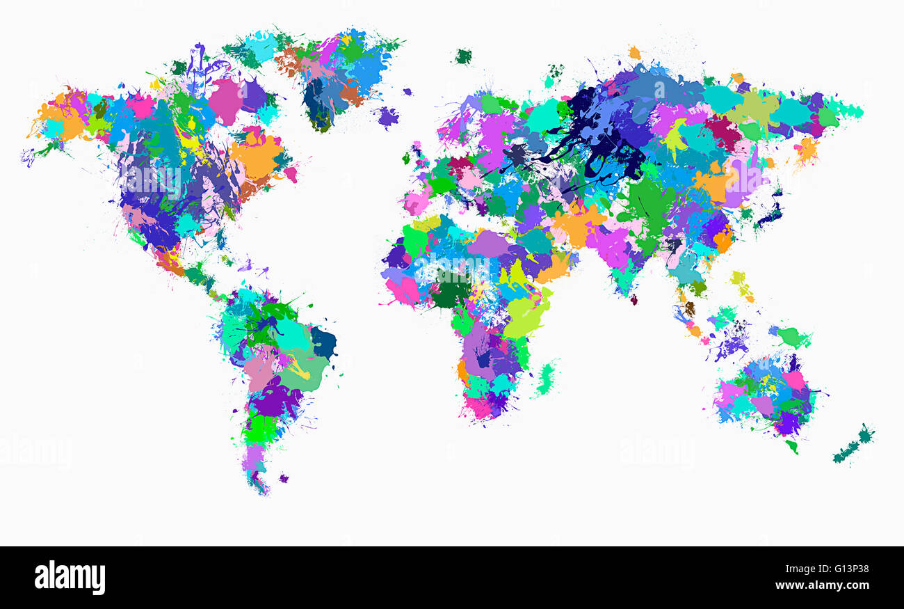 Carte du monde Banque D'Images