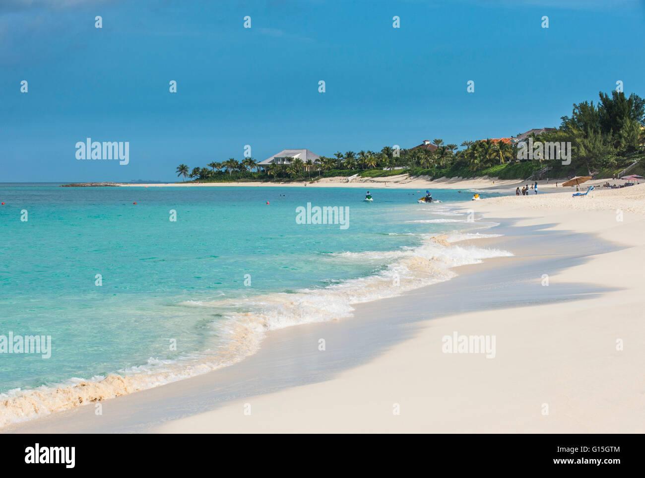 Cabbage beach, Paradise Island, Nassau, New Providence, Bahamas, Caraïbes Photo Stock