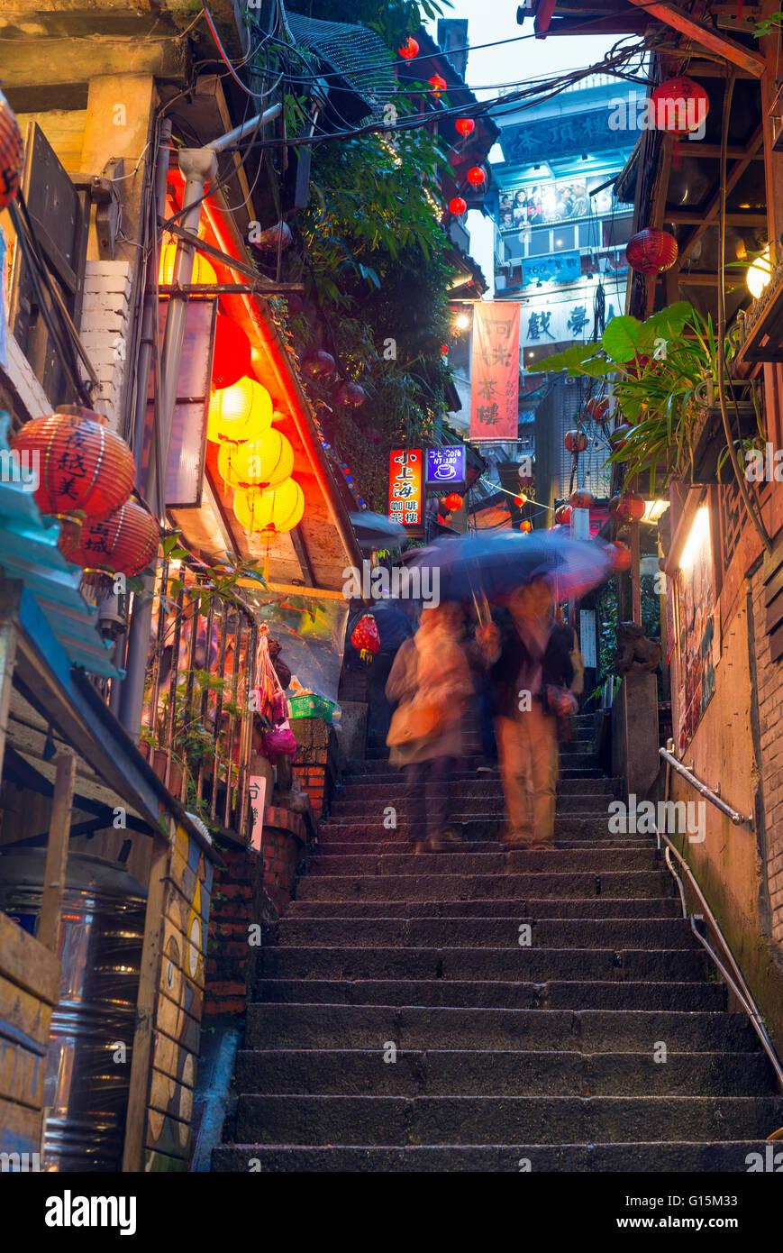 Les maisons de thé, Jiufen, Taïwan, l'Asie Photo Stock