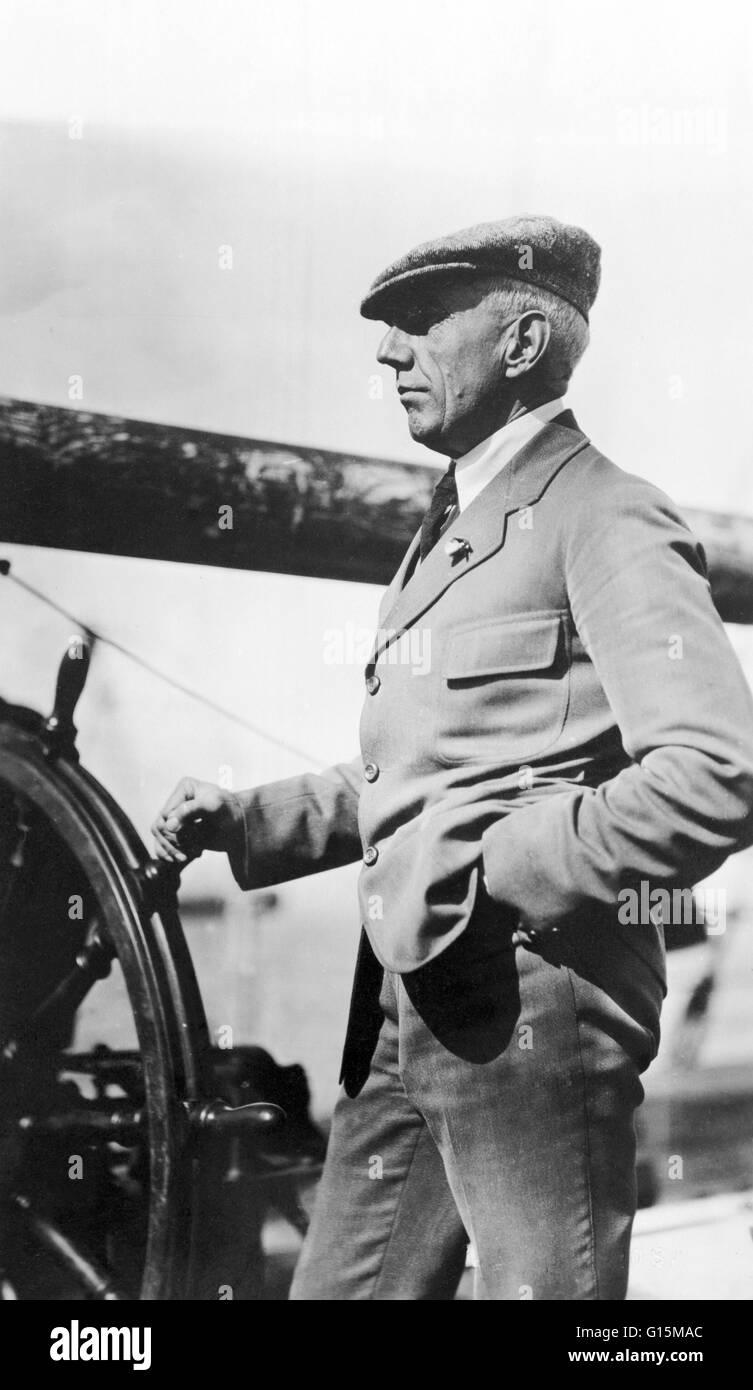 Roald Engelbregt Gravning Amundsen (Juillet 16, 1872 - Juin 18, 1928) était un explorateur norvégien des régions Banque D'Images