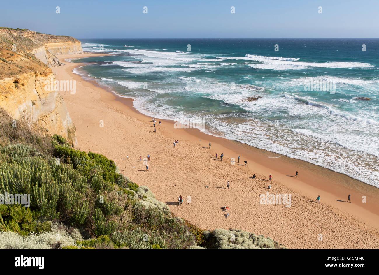Plage de Gibson, Étapes Port Campbell National Park, Great Ocean Road, Victoria, Australie, Pacifique Photo Stock