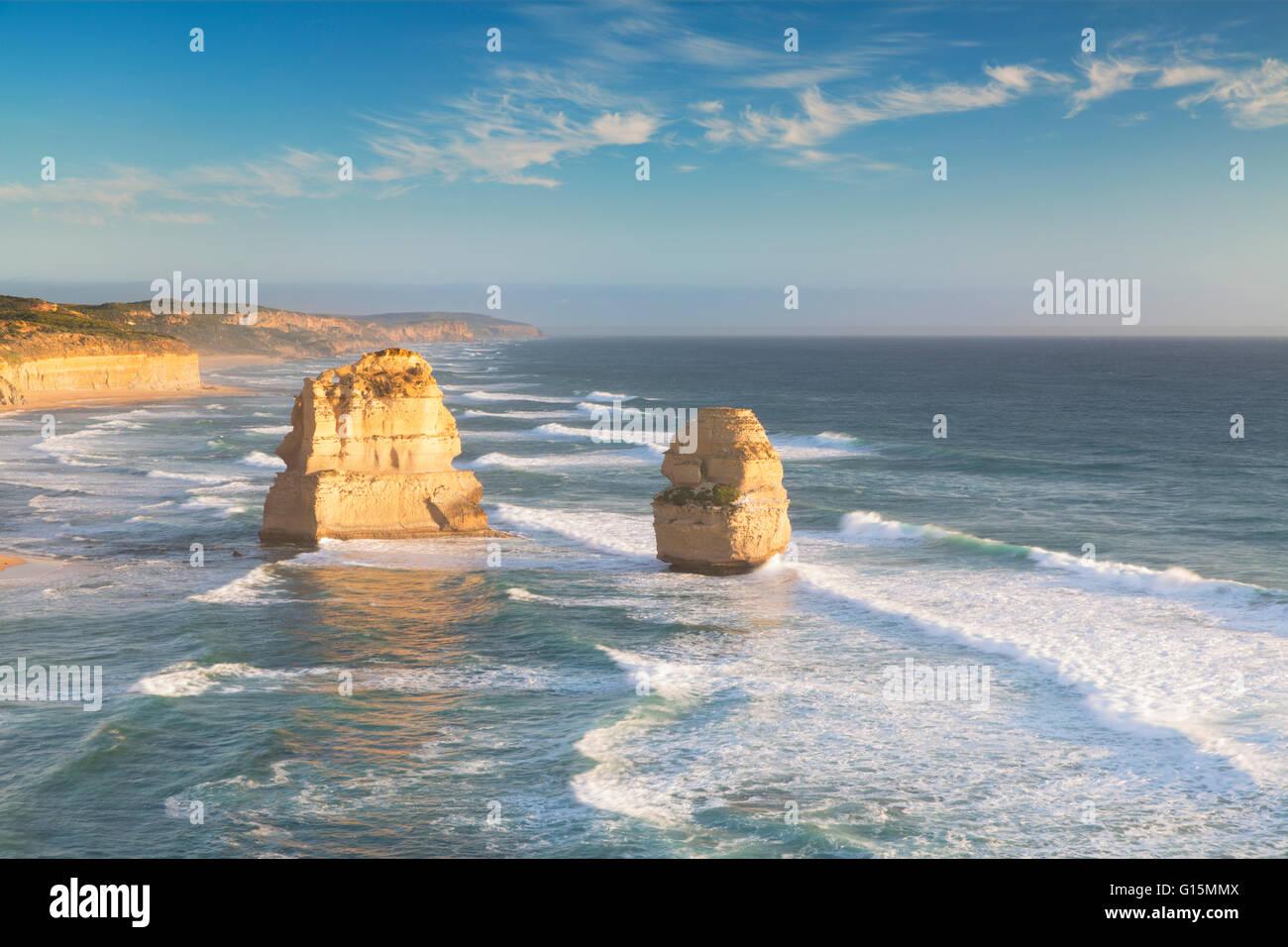 Douze Apôtres, Port Campbell National Park, Great Ocean Road, Victoria, Australie, Pacifique Photo Stock