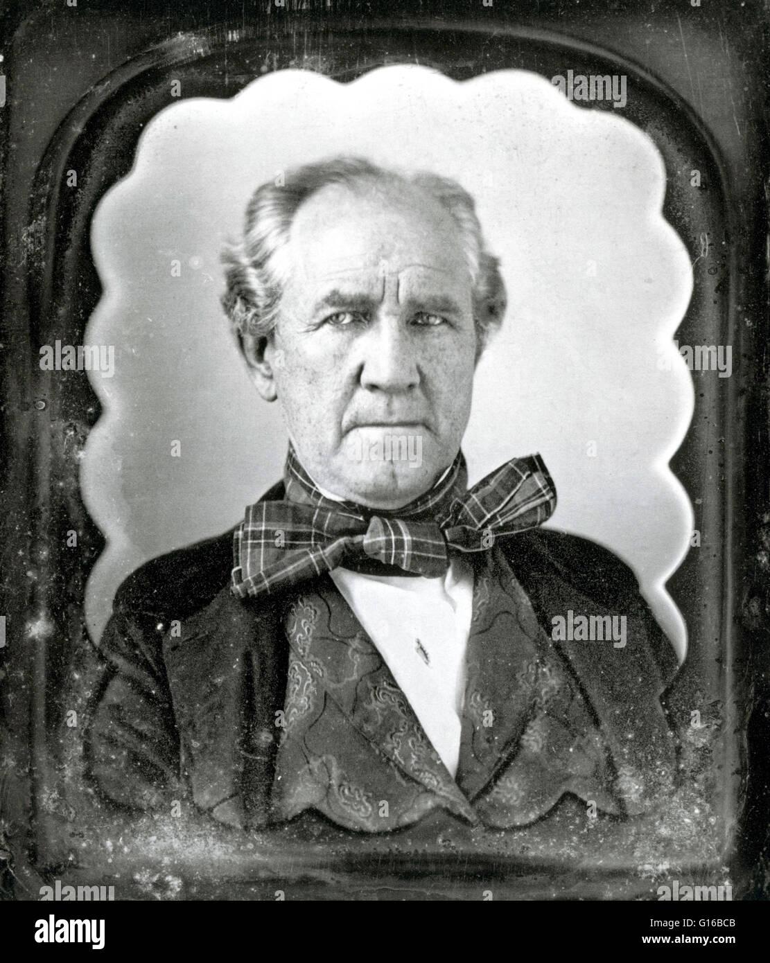 Photo non datée de Houston. Samuel 'Sam' Houston (2 mars 1793 - 26 juillet 1863) était un homme d'État, homme politique, Banque D'Images