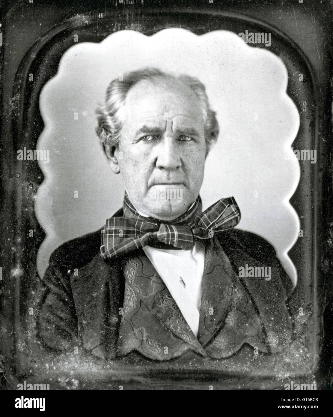 Photo non datée de Houston. Samuel 'Sam' Houston (2 mars 1793 - 26 juillet 1863) était un homme Photo Stock