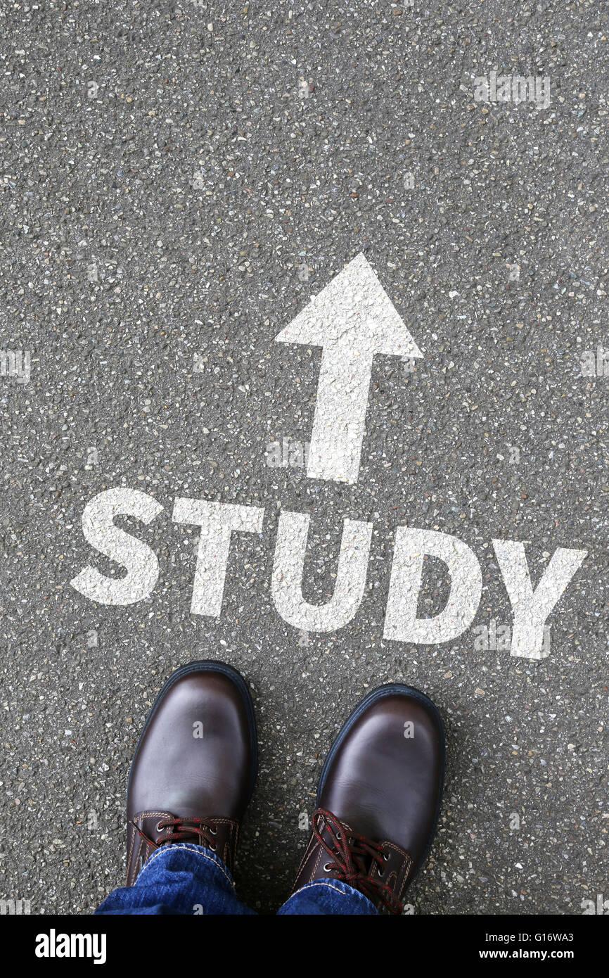 Étudiant de l'étude de l'éducation de l'université des études étudiants Photo Stock