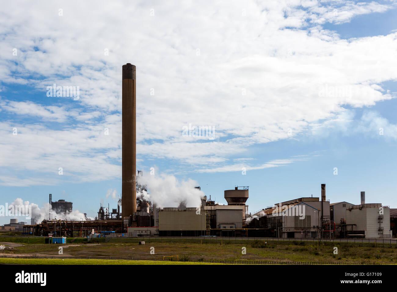 Tata Steel à Port Talbot steel works au Pays de Galles Banque D'Images