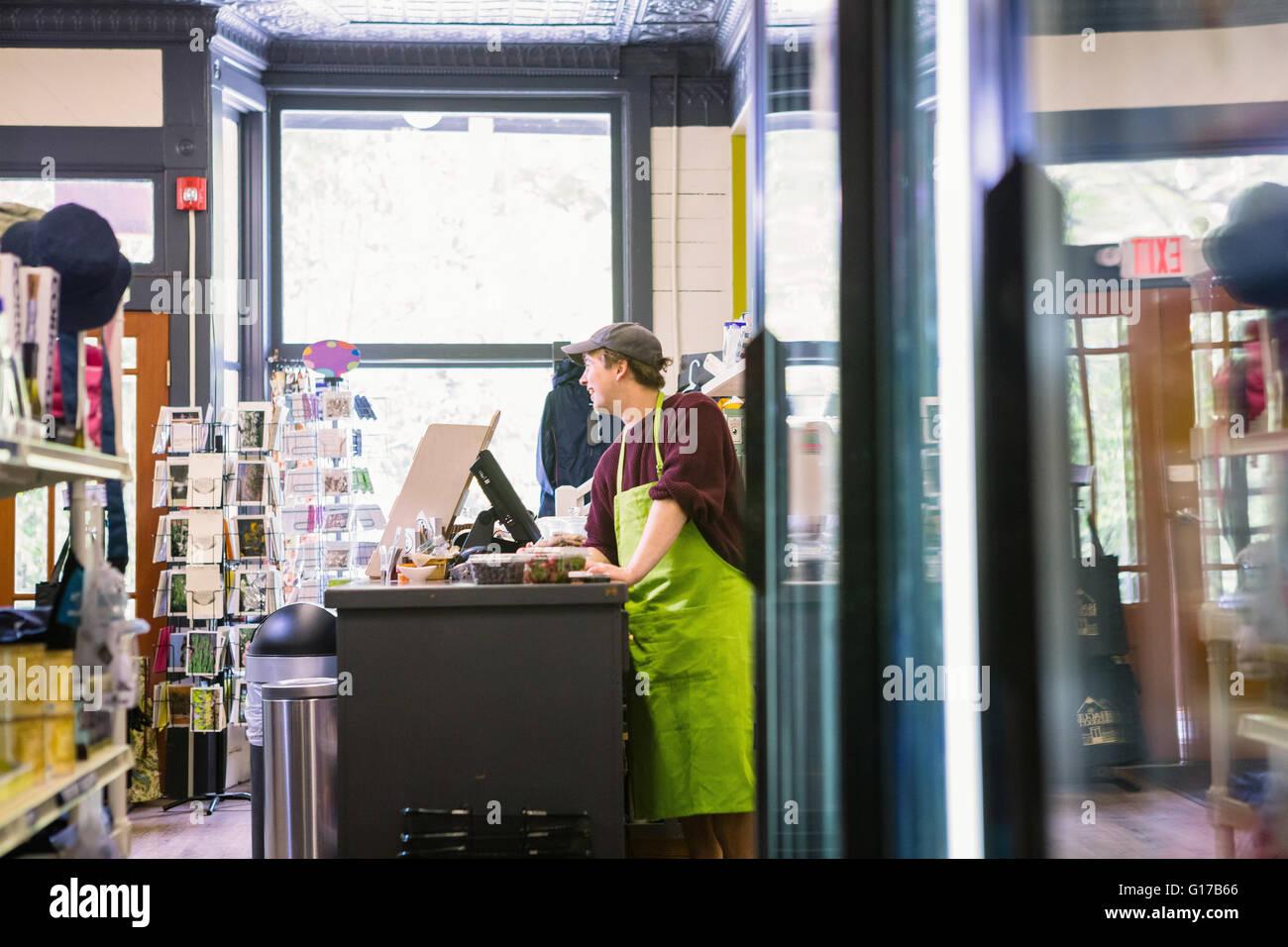 Commis de magasin général, de La Haye, USA Photo Stock