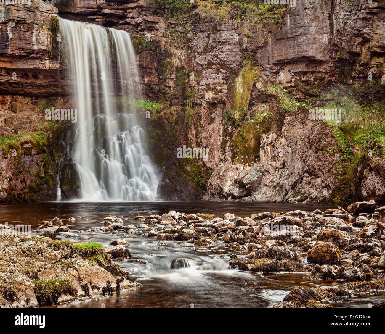 Thornton, La Force d'une chute sur le sentier Cascade Ingleton, Yorkshire Dales National Park, North Yorkshire, Photo Stock