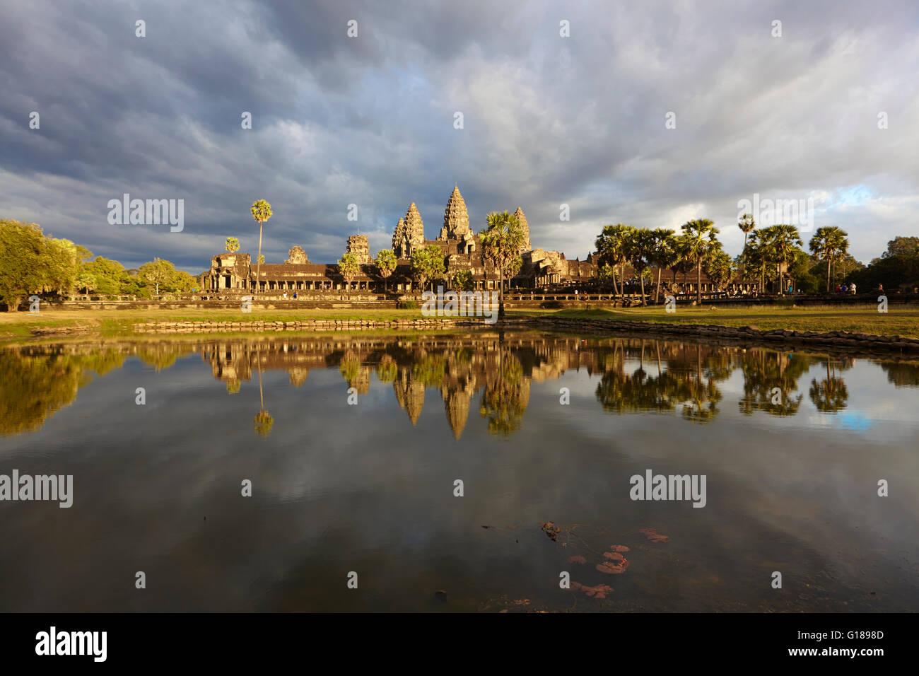 Temple d'Angkor Wat, Siem Reap, Cambodge Banque D'Images