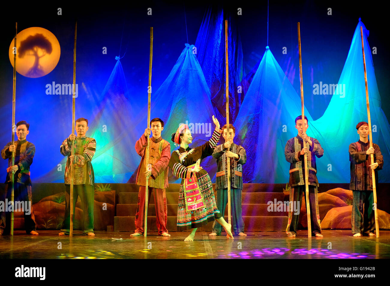 L'âme du Vietnam, un spectacle culturel à Ho Chi Minh Ville, Vietnam Photo Stock