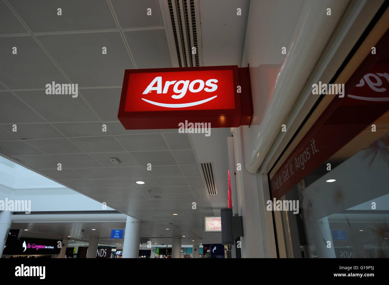 Argos,UK's leading retailer numérique, électronique,UK Photo Stock