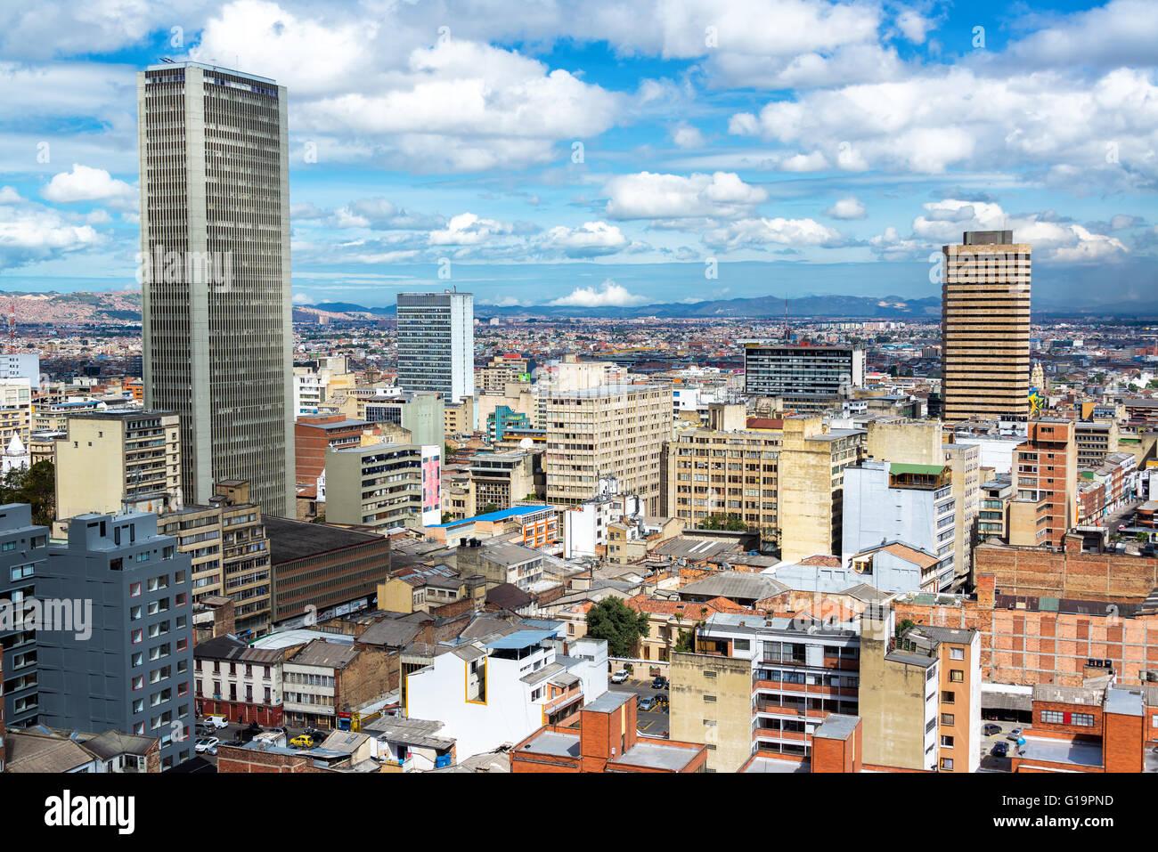 Vue sur le centre-ville de Bogota, Colombie Photo Stock