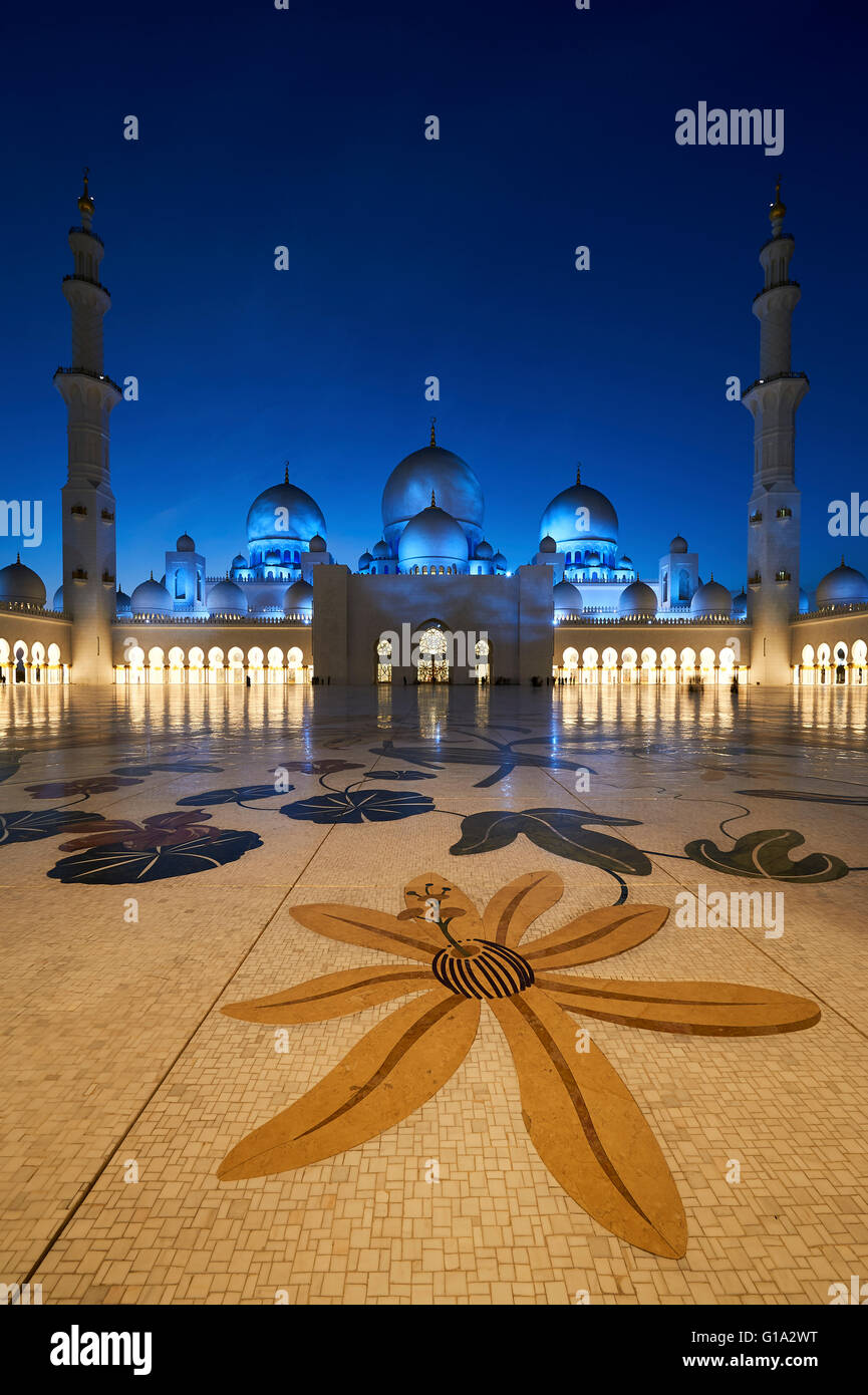 Grande Mosquée de Sheikh Zayed. Abu Dhabi Photo Stock