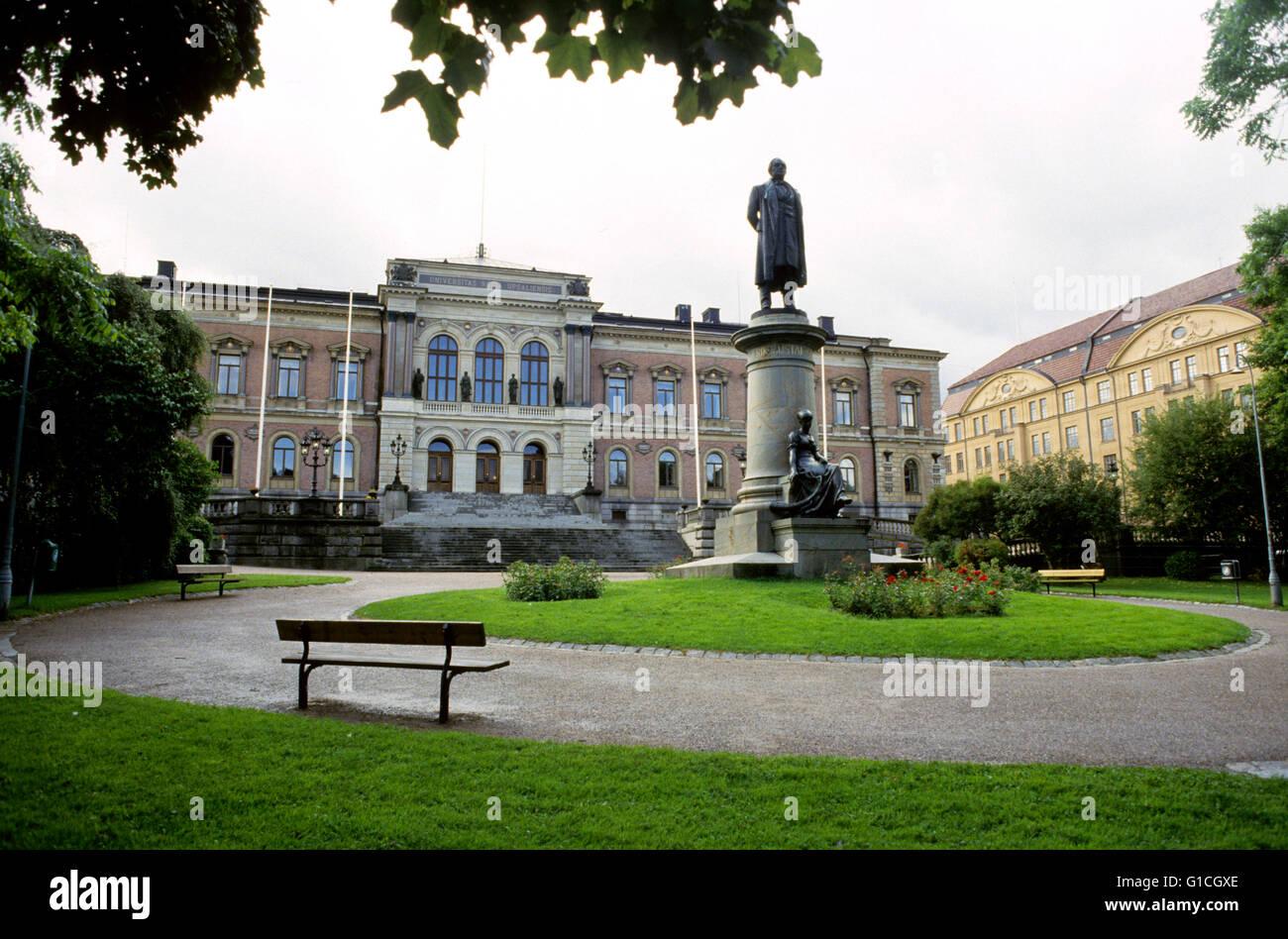 La plus ancienne université Uppsal siège enseignements en Suède Photo Stock
