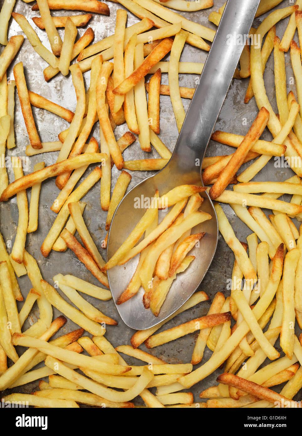 Frites cuites Photo Stock