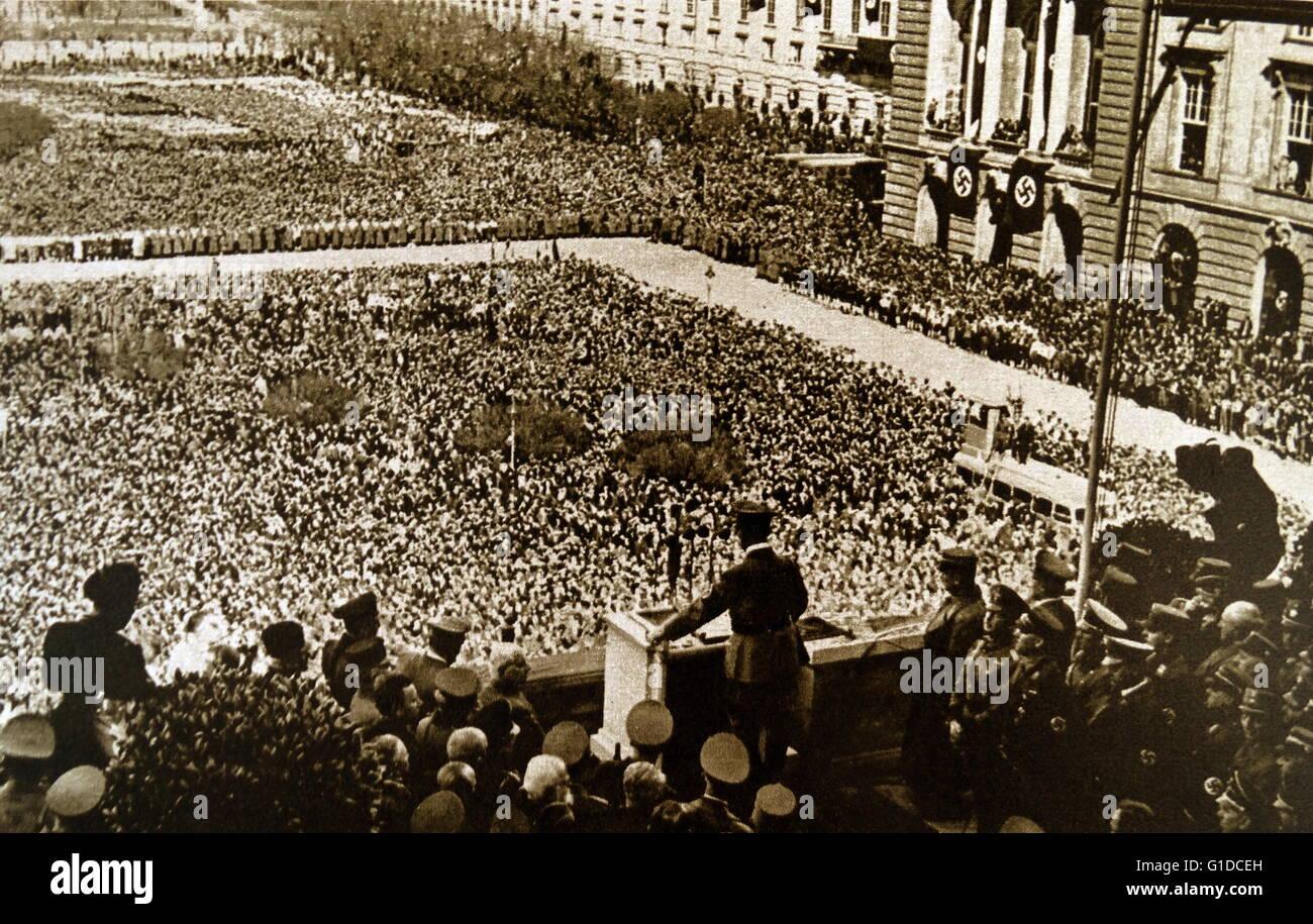 Tirage photographique d'Adolf Hitler (1889 - 1945) un homme politique allemand qui était le chef du parti Photo Stock