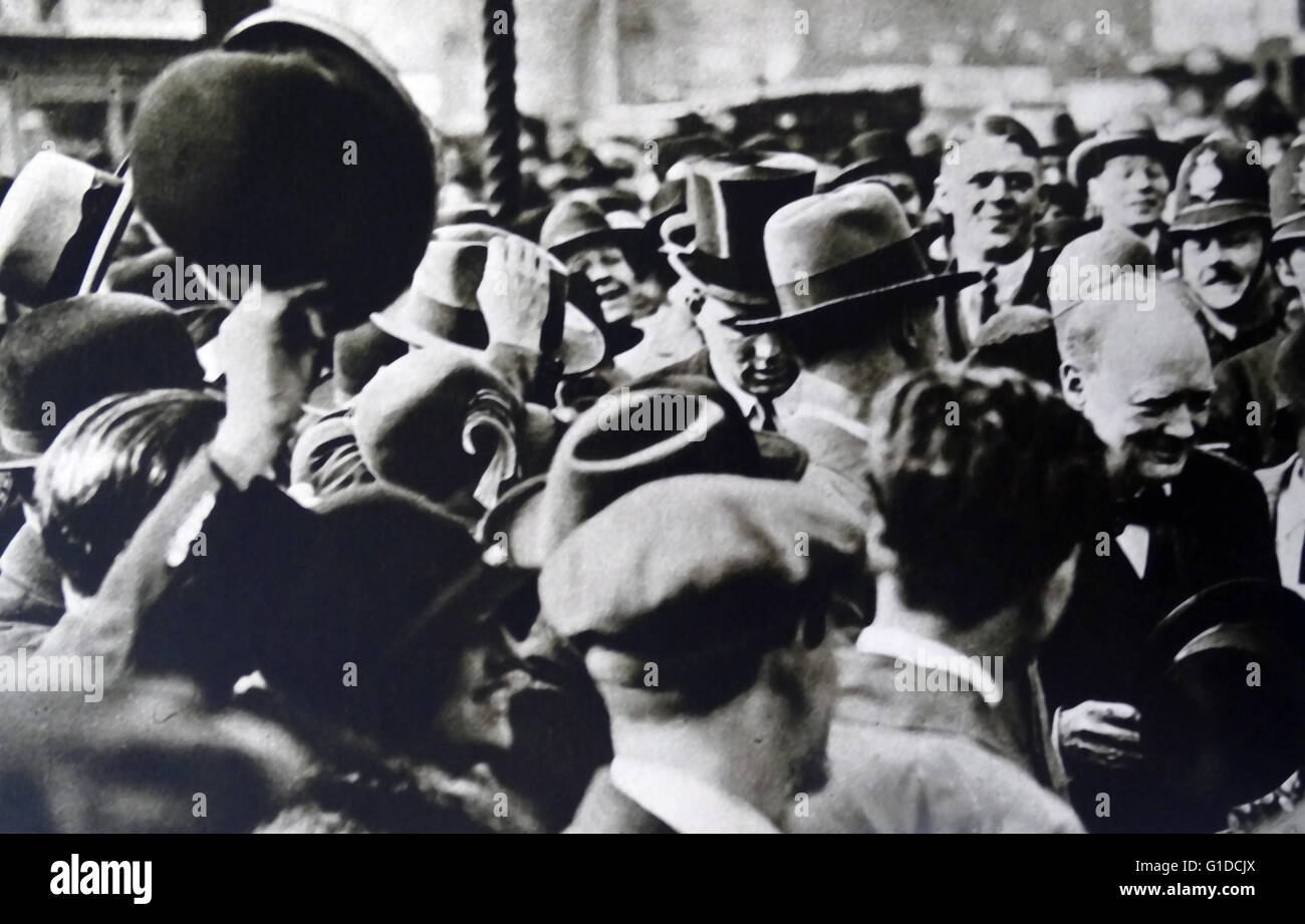 Sir Winston Churchill (1874 - 1965 homme d'État britannique qui fut le premier ministre du Royaume-Uni de 1940 à Banque D'Images