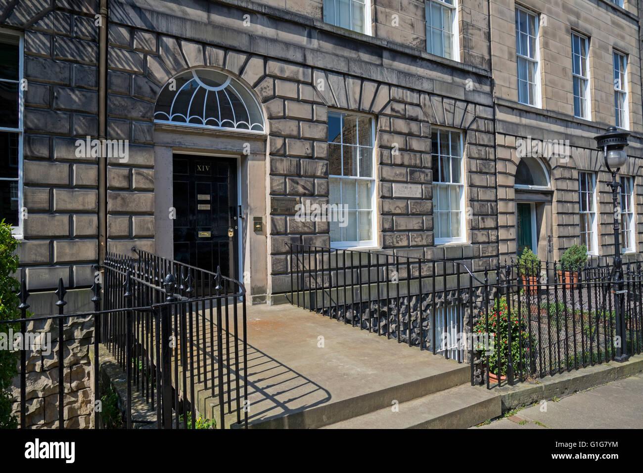 14 rue de l'Inde dans la nouvelle ville d'Édimbourg, le lieu de naissance de James Clerk Maxwell (1831 Photo Stock