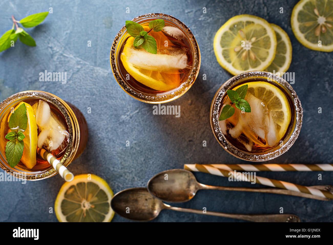 Thé glacé frais généraux shot Photo Stock