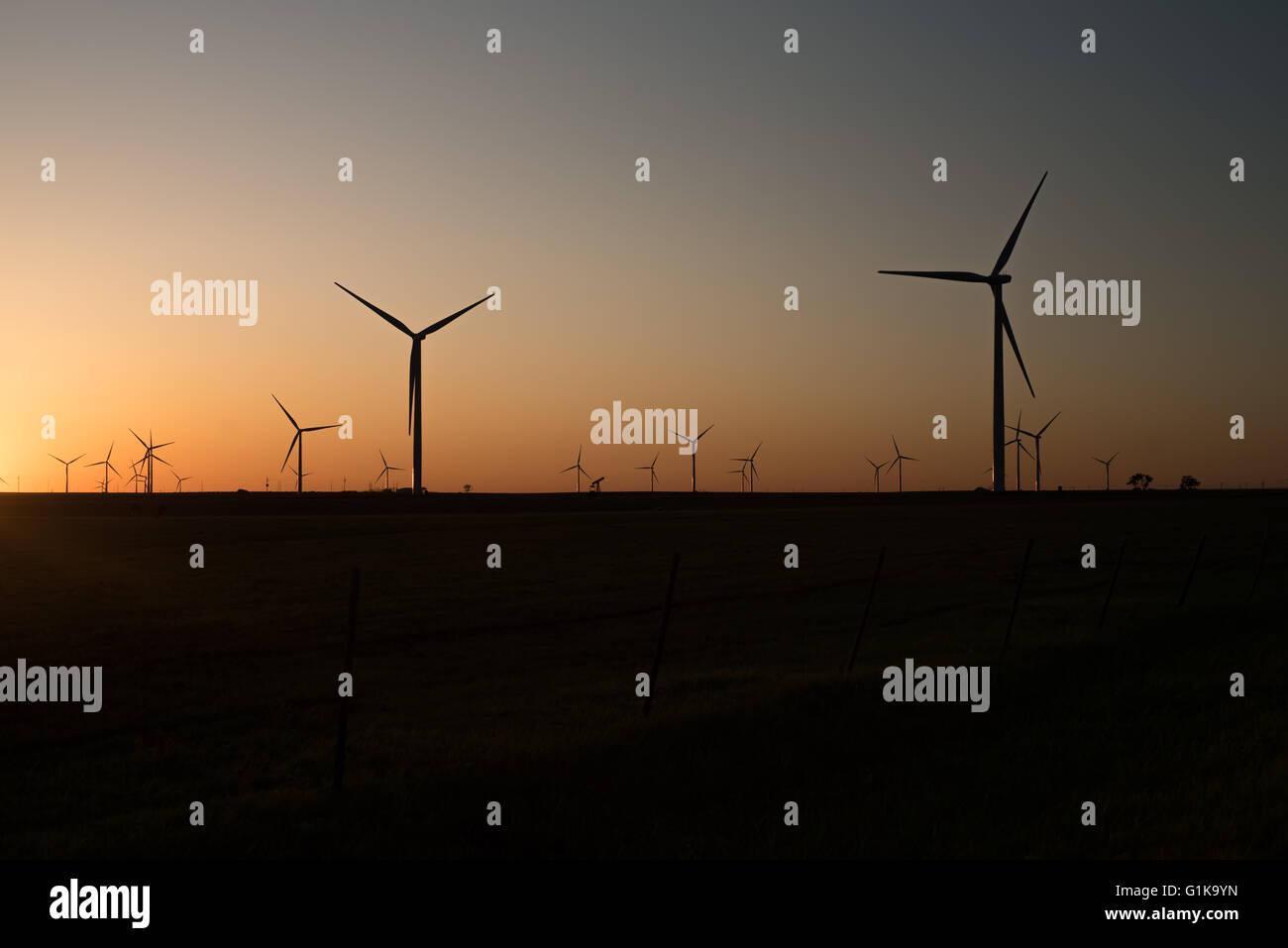 Golden Wind Turbine Photo Stock