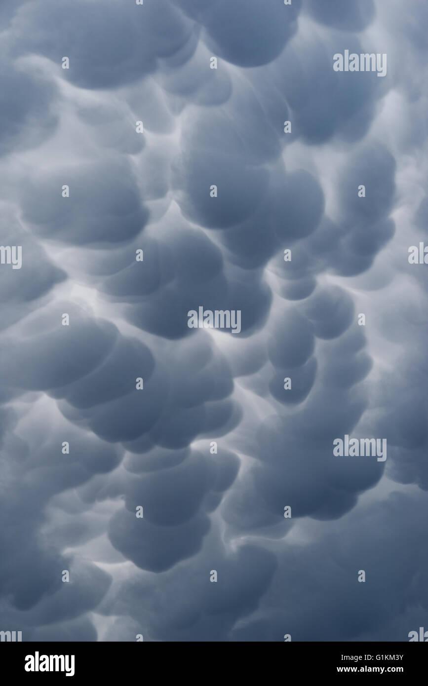 Détail d'un nuage noir abstrait Photo Stock