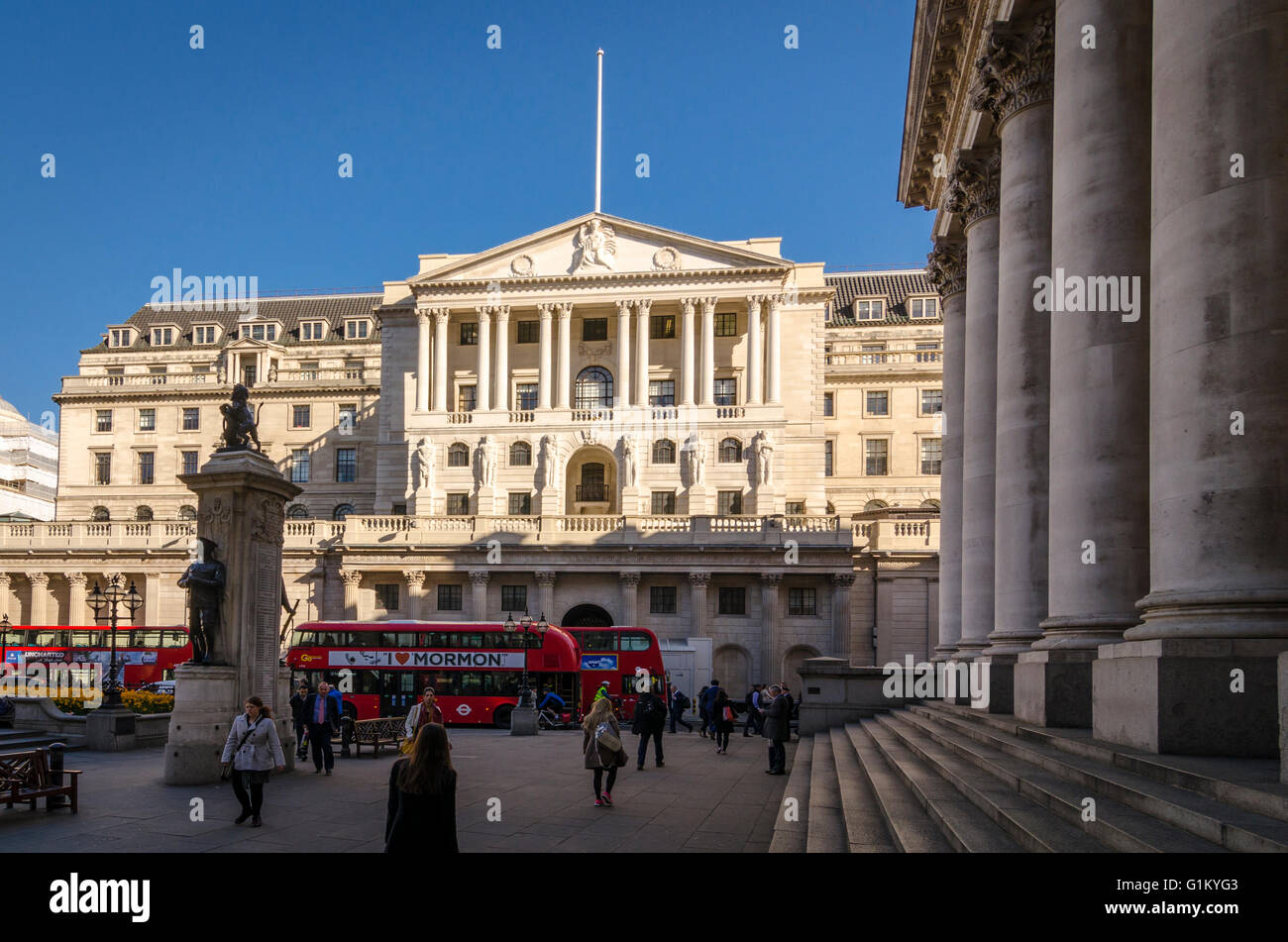 Banque d'Angleterre, Londres, UK Photo Stock