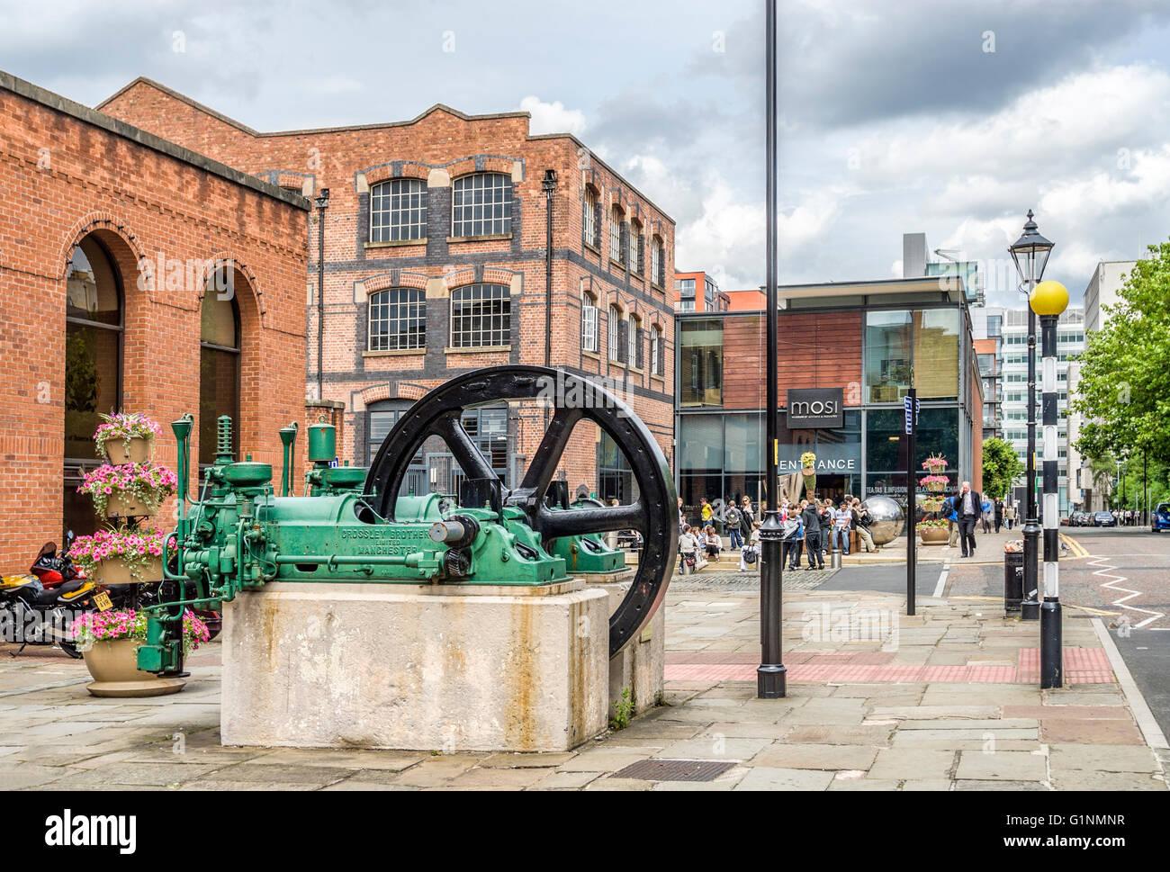 Le Musée des sciences et de l'industrie à Manchester (MOSI), à Manchester, Angleterre, RU Photo Stock