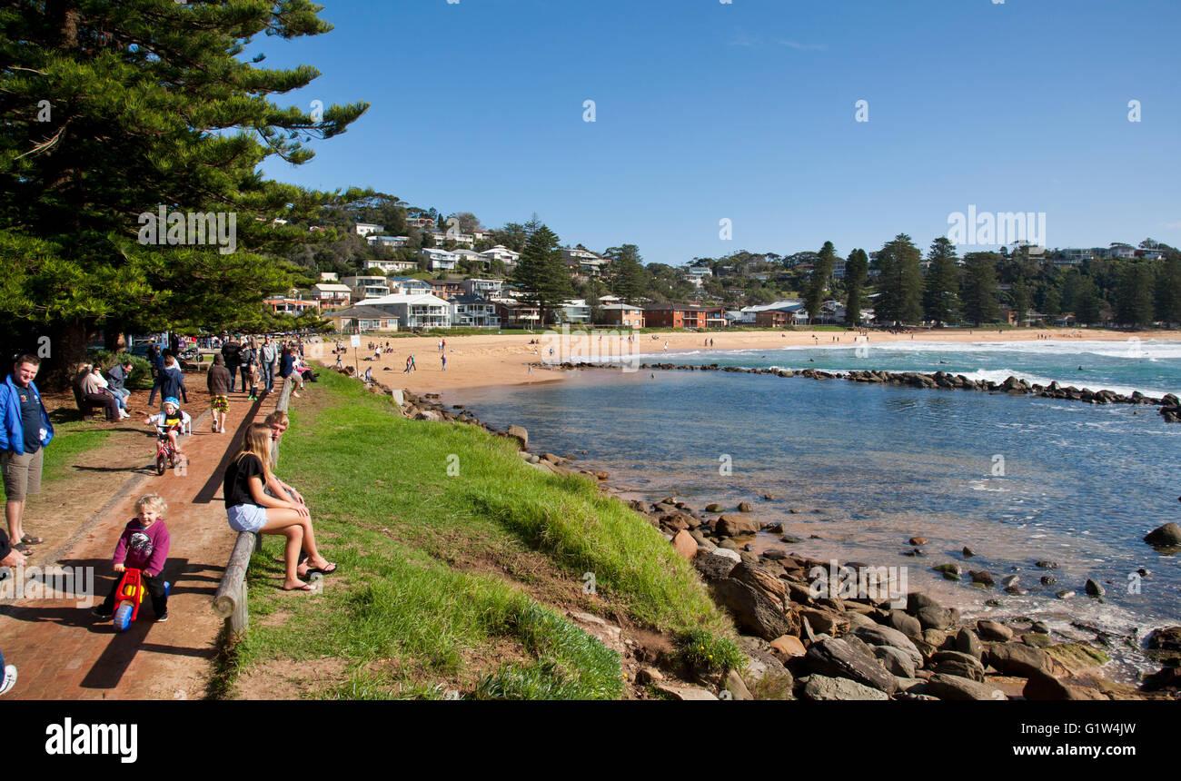 L'Australie, Nouvelle Galles du Sud, Central Coast, Avoca Beach rock extérieure Photo Stock