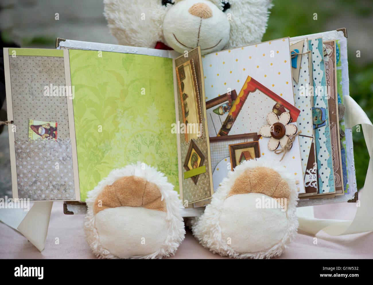 Album fait main pour bébé Photo Stock