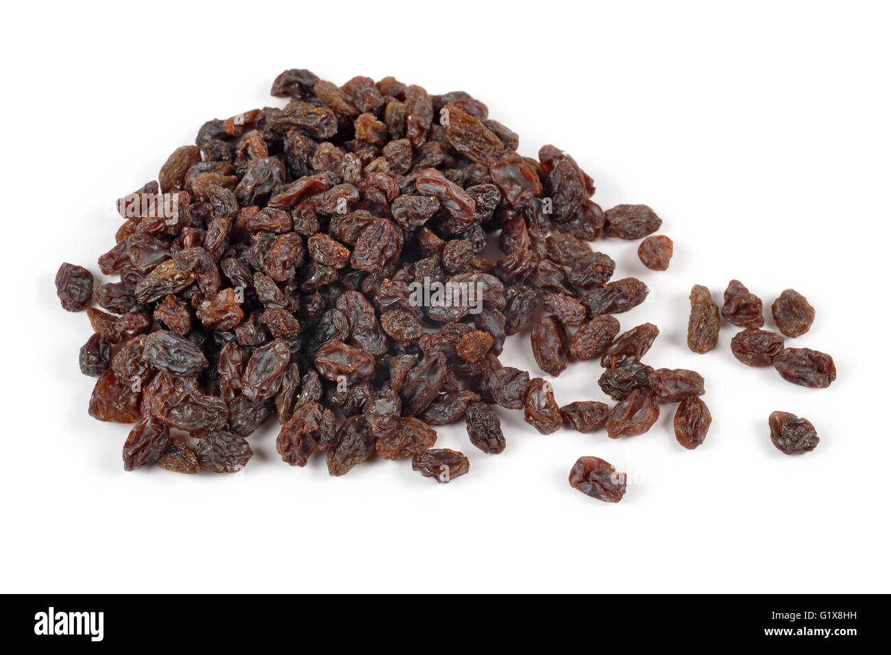 Photo d'un tas de raisins sur un fond blanc. Photo Stock