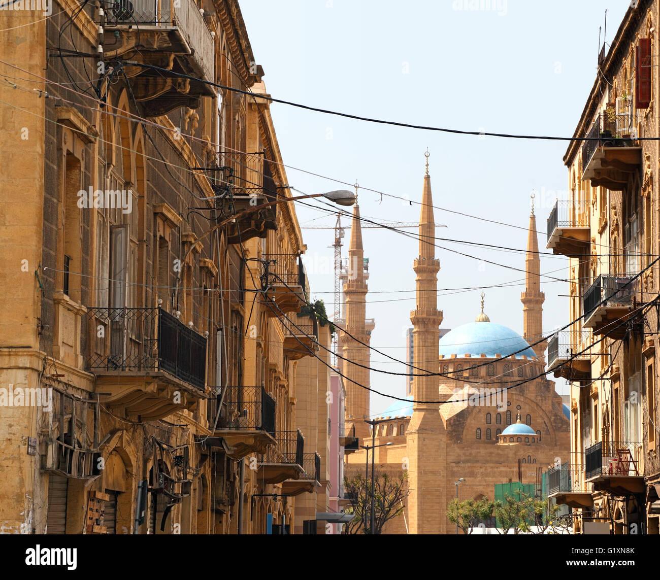 L'architecture de Beyrouth Photo Stock