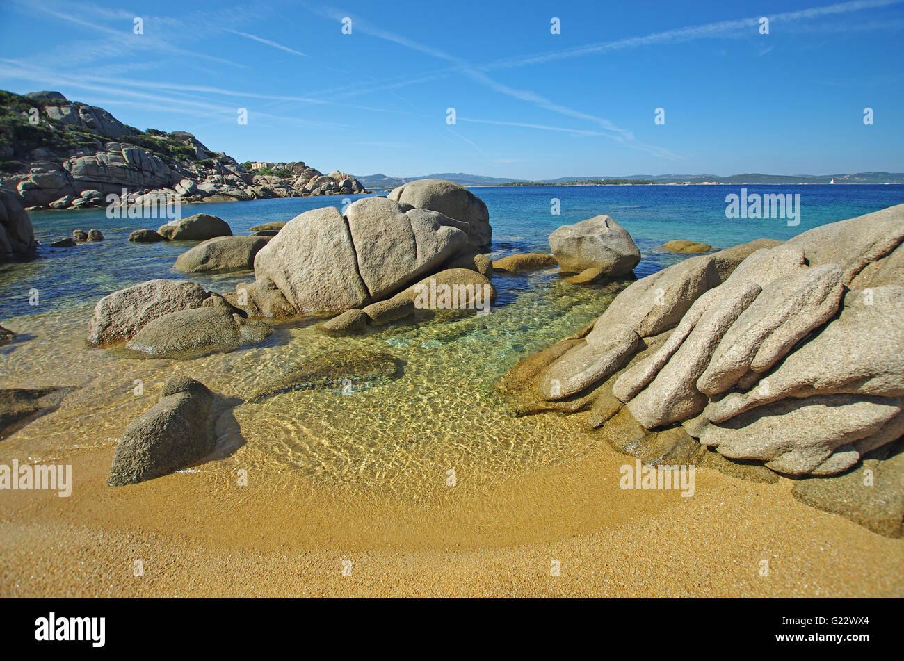 Palau, SARDAIGNE: Talmone beach Photo Stock