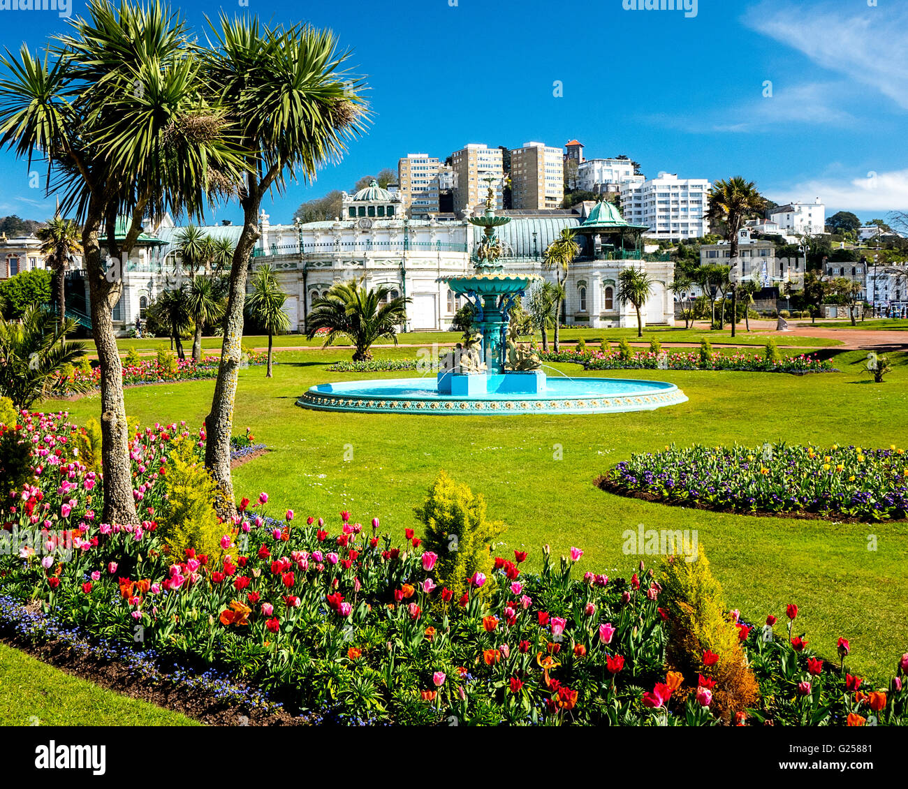 Go - Devon : princess gardens et pavilion, Torquay, riviera anglaise Photo Stock