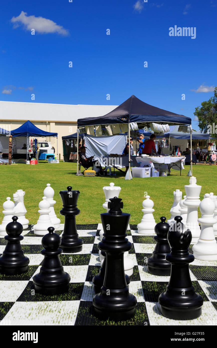 Jeu d'échecs en plein air, Busselton, Australie de l'Ouest Banque D'Images