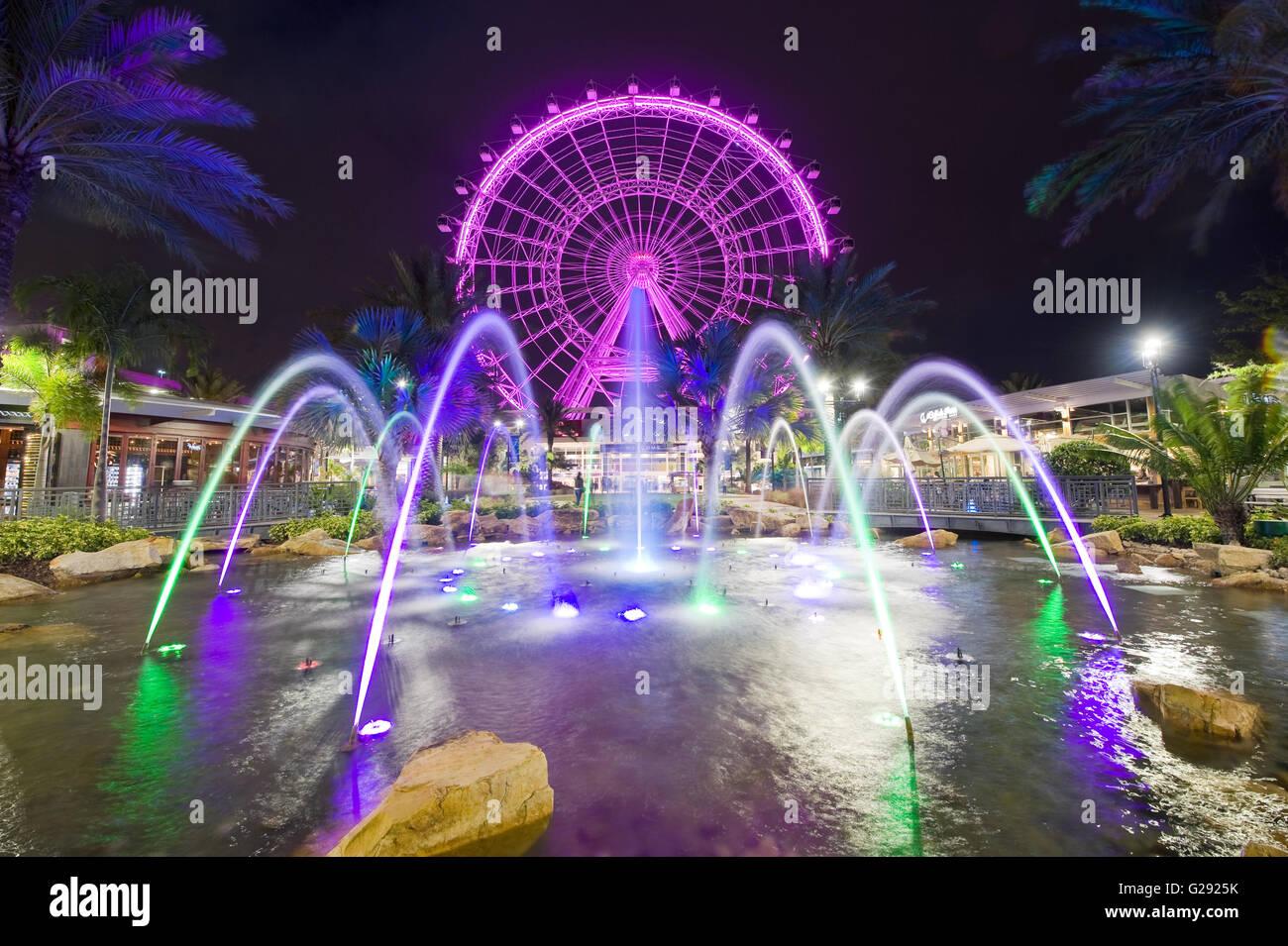 L'Œil d'Orlando est une grande roue de 400 mètres de hauteur au coeur d'Orlando et de la plus grande roue panoramique sur la côte est Banque D'Images