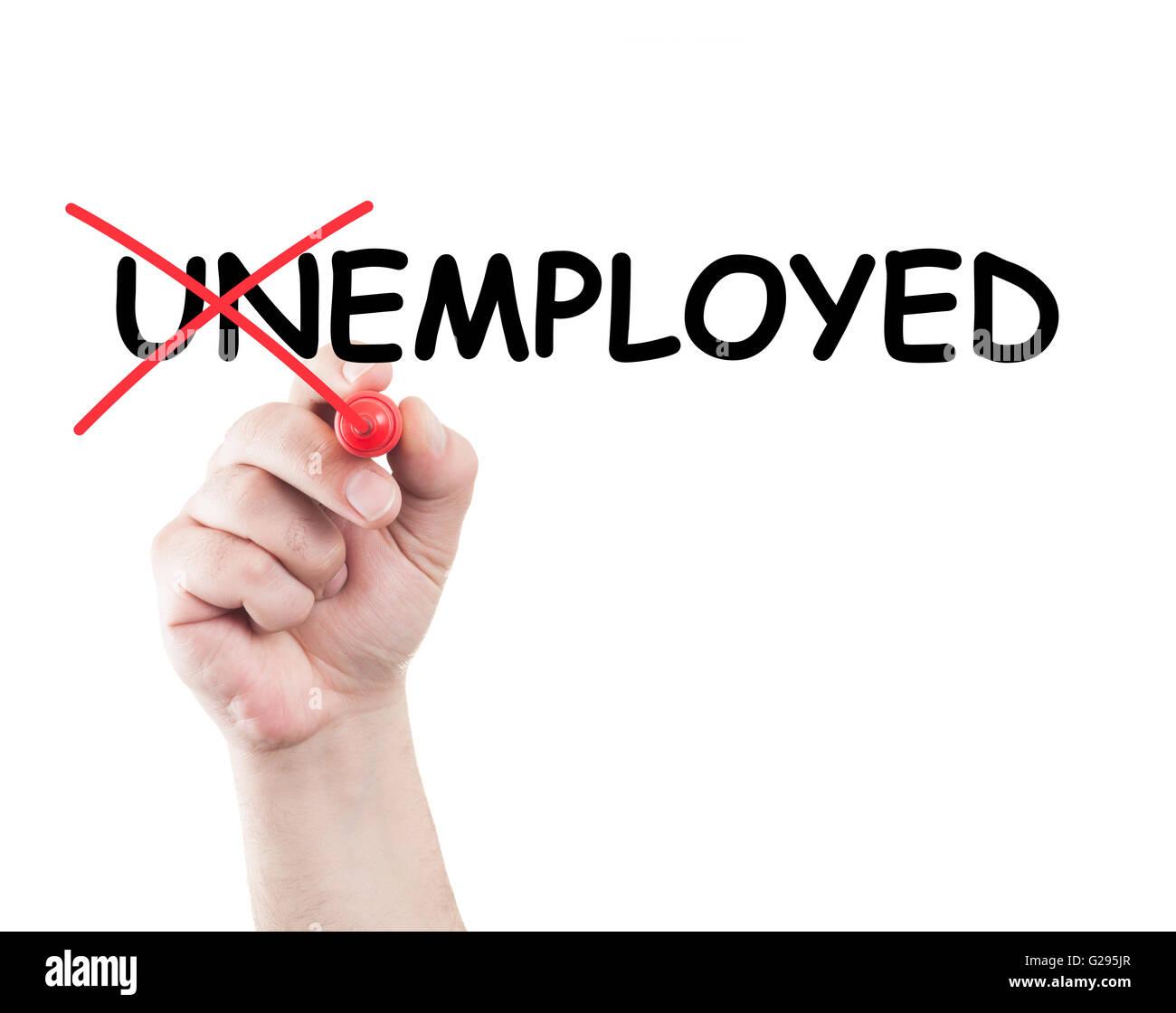 Chômeurs ou travailleurs indépendants concept écrit par la main à l'aide d'un marqueur Photo Stock