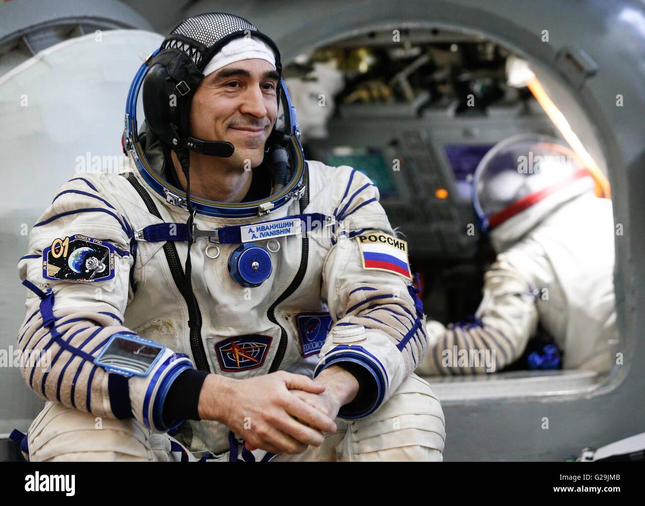 Moscou, Russie. 27 mai, 2016. Membre de l'équipage Expedition 48/49 principaux, cosmonaute russe Anatoly Ivanishin Banque D'Images