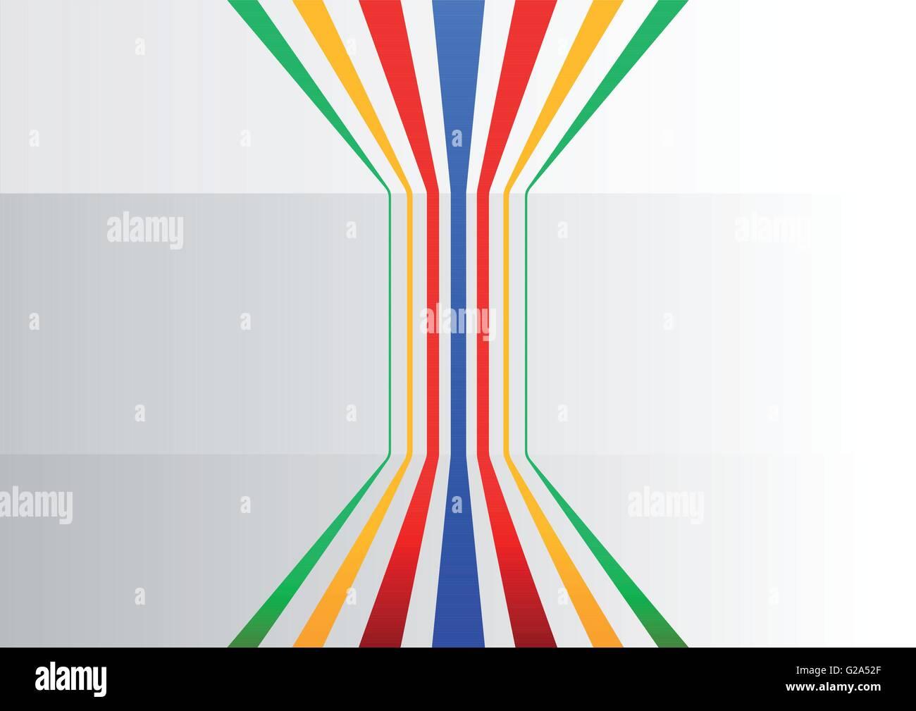 Fond d'affaires génériques colorés avec des lignes verticales branching out pour symboliser l'information Photo Stock