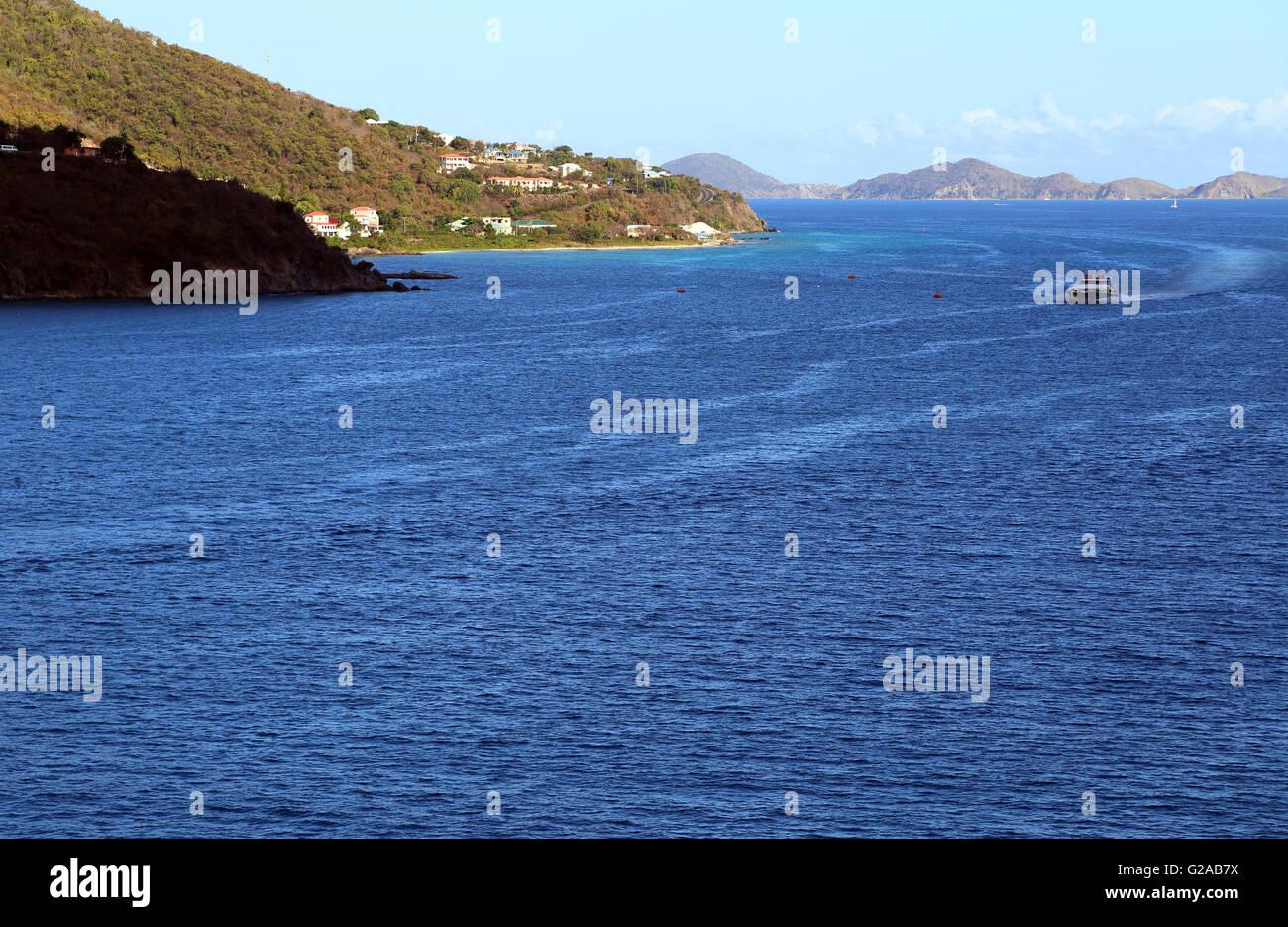 Îles de Îles Vierges britanniques, de Road Town, Tortola, BVI port Caraïbes Banque D'Images