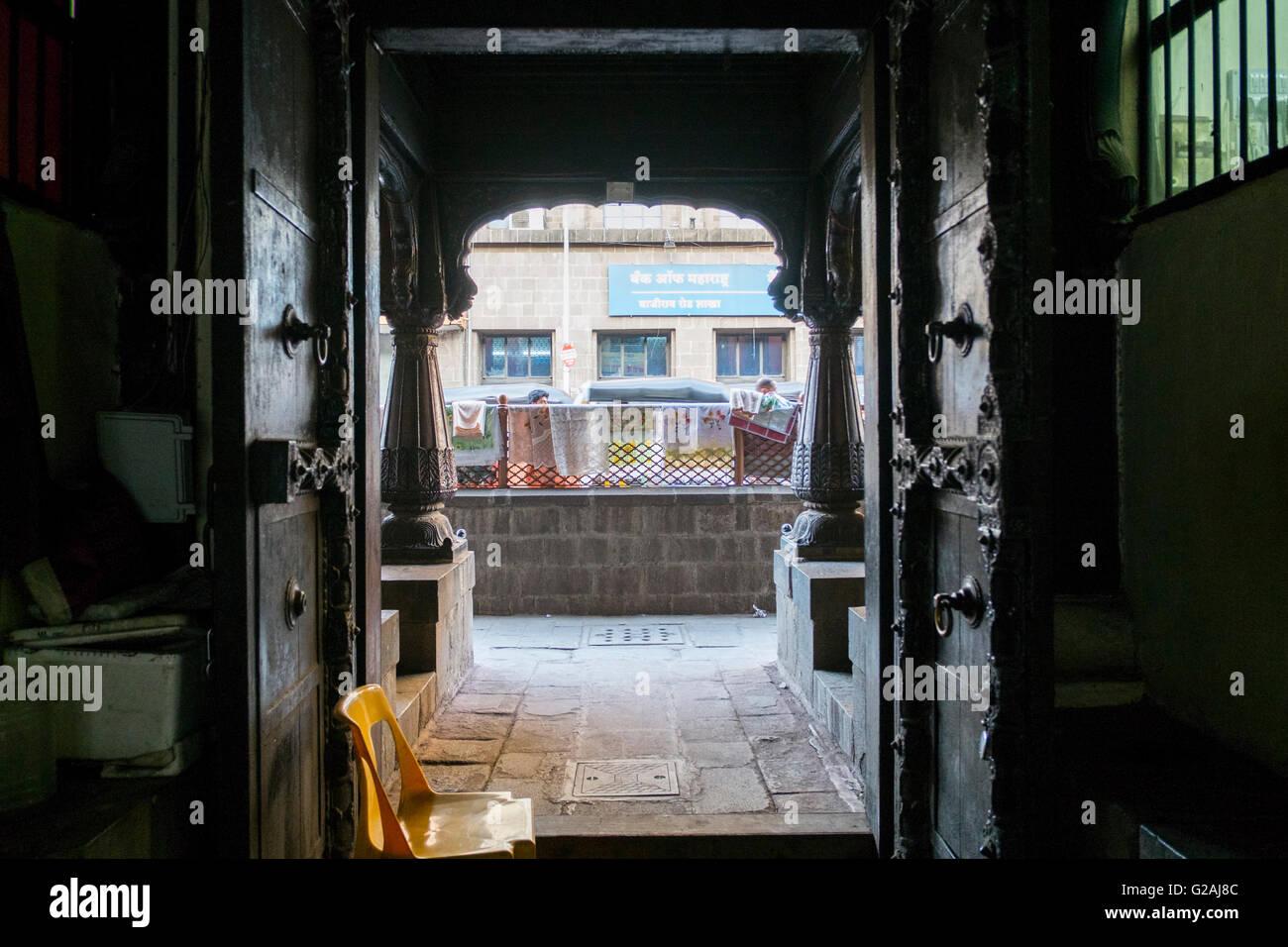La porte de l'Ama Vishrambaug à Pune, Maharashtra, Inde. Banque D'Images