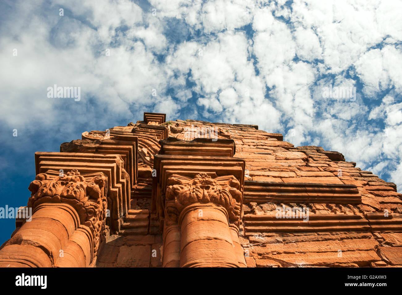 Mission San Ignacio-Mini fondée en 1632 par les Jésuites, province de Misiones, Argentine Photo Stock