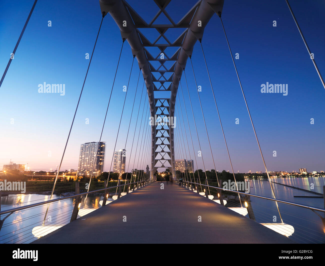 Pont en arc de la rivière Humber, Toronto, Ontario, Canada Province Photo Stock