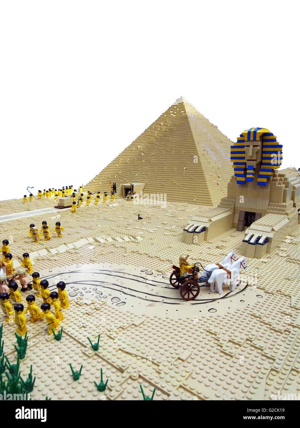 Lego Egypte Ancienne Égyptien Sphinx Pharaon Pyramide Modèle mN0wn8