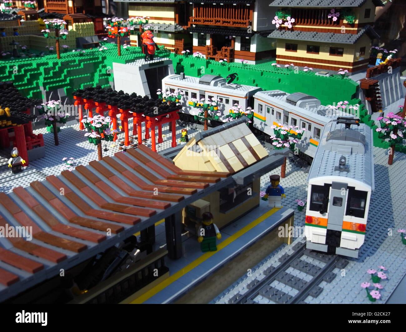 Amusant De Station Jr Japon Jour Transport Le Jouet City Train Lego kuZiPX