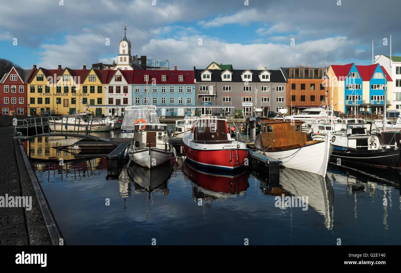 Port, Torshavn, Streymoy, îles Féroé, Danemark Photo Stock