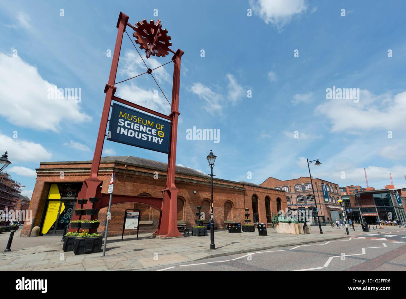 Le Musée des sciences et de l'industrie touristique du patrimoine MOSI aka à Manchester, au Royaume Photo Stock