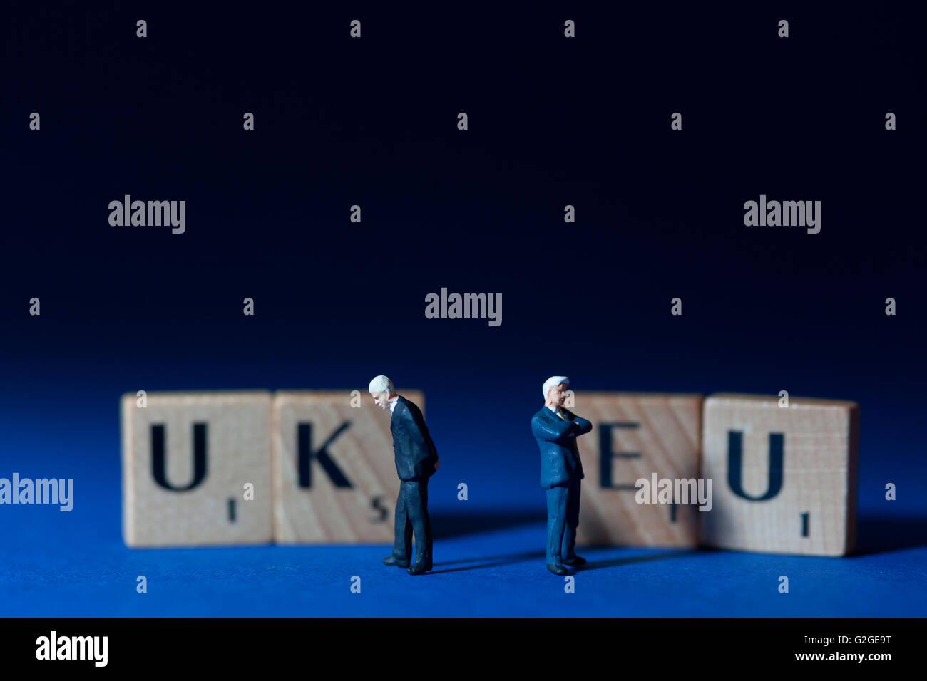 Référendum britannique de l'UE avec d'affaires non résolues Photo Stock