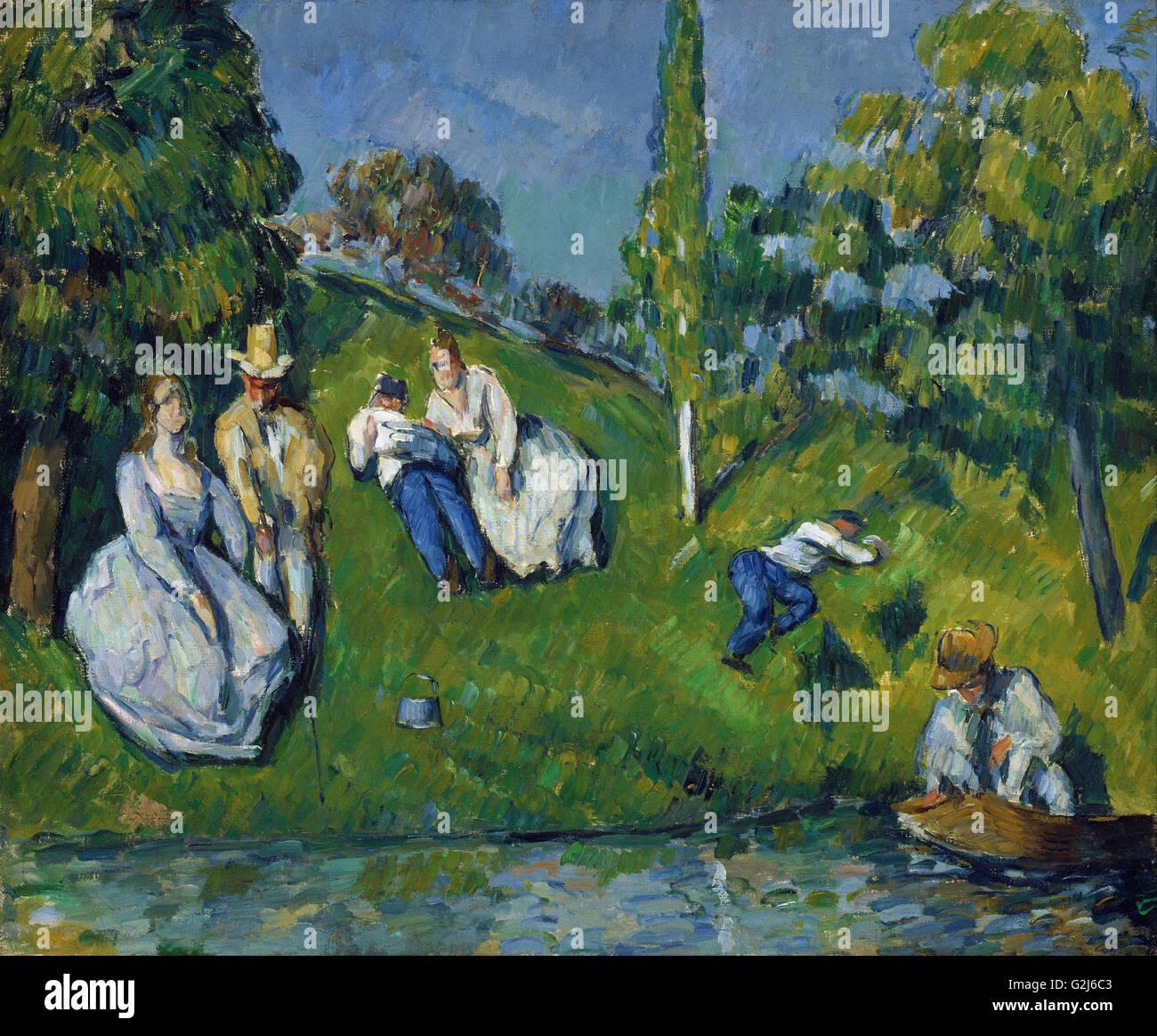 Paul Cézanne - l'étang - Musée des beaux-Arts, Boston Photo Stock